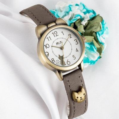 Superior Cat Quartz Watch With Kitten Ears & Bowknot-Women's Watches-FreakyPet