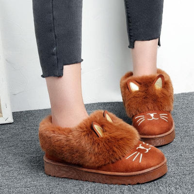 Cute Cat Ankle Snowboots