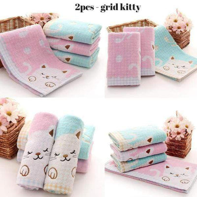 Little Kitty Cat Face Towel Set