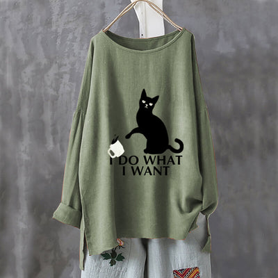 I D0 WH4T I W4NT Oversize Blouse Shirt-FreakyPet