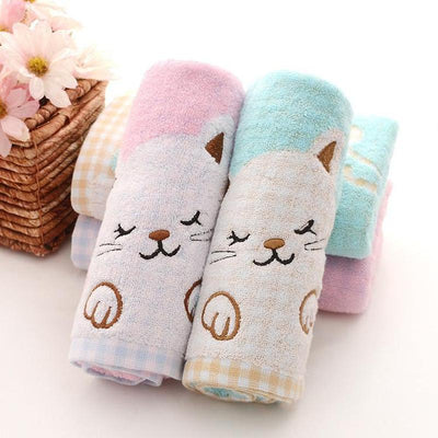 Cute Kitty Cotton Hand Towel