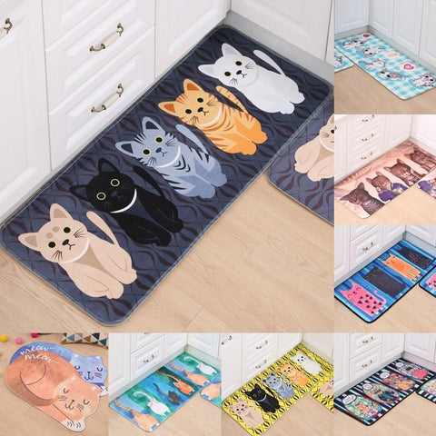 Cute Cat Anti Slip Doormats