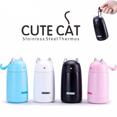 Cute Cat Stainless Steel Thermos-Vacuum Flasks & Thermoses-FreakyPet