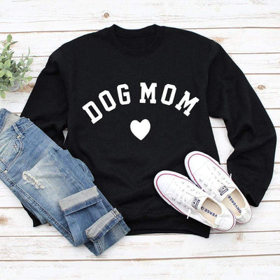 DOG MOM Long Sleeve Sweatshirt-Home-FreakyPet