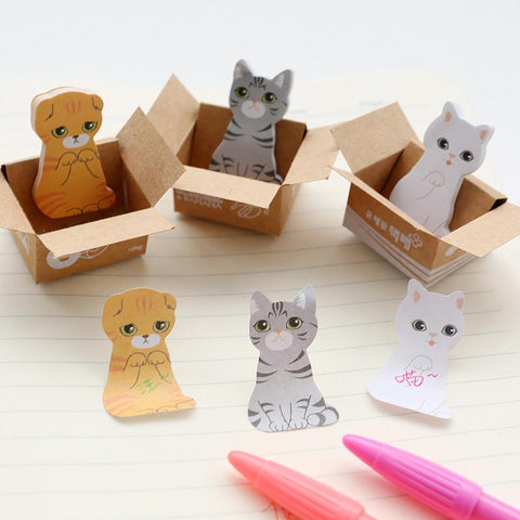 Cute Carton Cat Memo Sticker