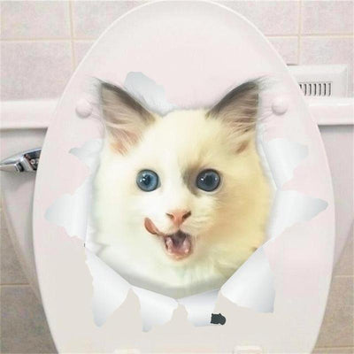 3D Cat Wall & Toilette Decal-Wall Stickers-FreakyPet