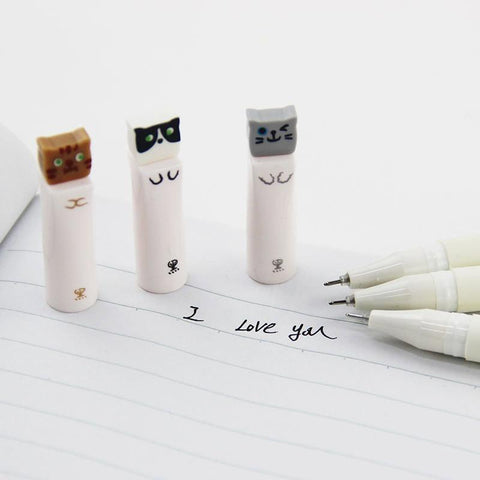 3pc Kawaii Cat Pens
