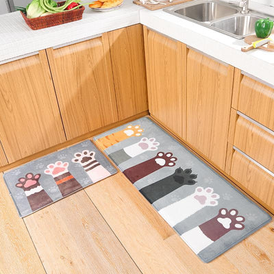 Cute Cat Paw Floor Carpet-FreakyPet