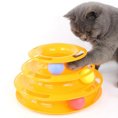 Three Levels Tower Tracks-Cat Toys-FreakyPet