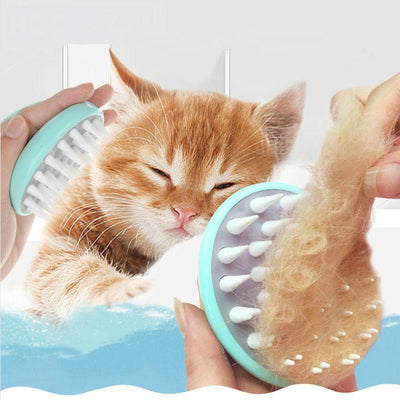 Massaging And Grooming Brush Comb-FreakyPet