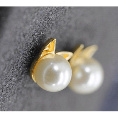 Cat Pearl Stud Earrings-FreakyPet