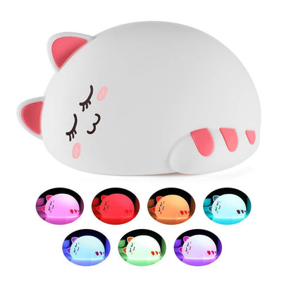 1-Touch Color Changing Cat Night Light Lamp-LED Night Lights-FreakyPet