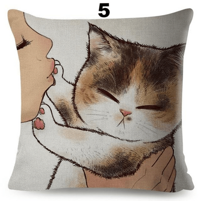 Dont kiss me Hoomin Cushion Cover-Cushion Cover-FreakyPet
