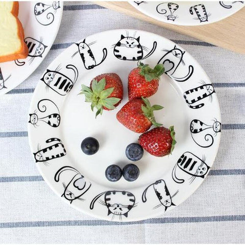 4pcs Cute Cat Plates