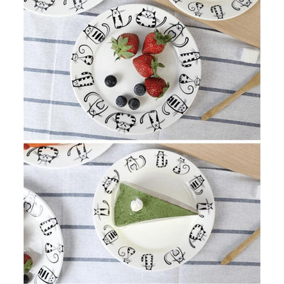 4pcs Cute Cat Plates-FreakyPet