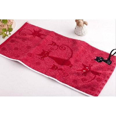 Tail Hook Cotton Cat Face Towel 25x50cm-FreakyPet
