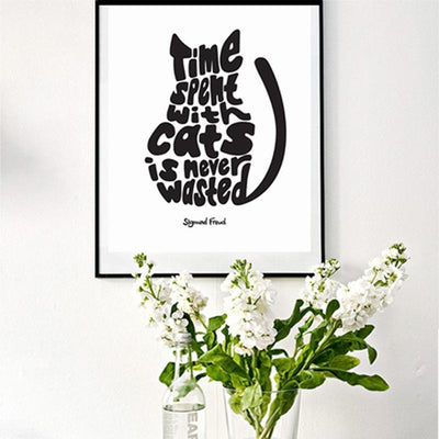 Cute Cat Canvas Wall Art Decor-Painting & Calligraphy-FreakyPet