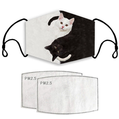 Ying & Yang Cat Wash & Reusable Face Mask