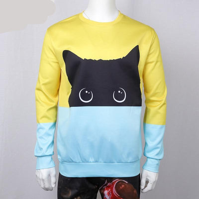 Black Cat Peaking Sweatshirt