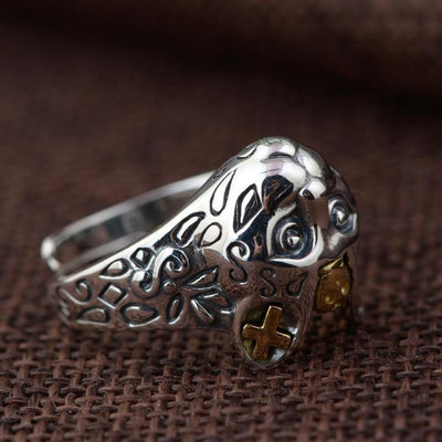 925 Sterling Silver Cat Pharao Ring