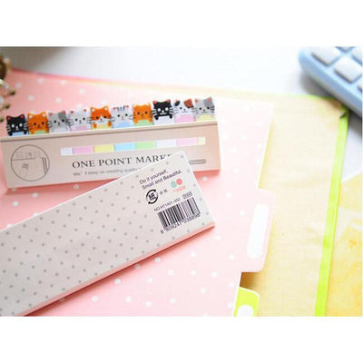Cute Kawaii Cat Memo Sticker-Memo Pads-FreakyPet