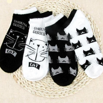 4Pair Cat Series Ankle Sock