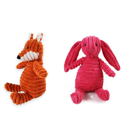 Dog Toys for Small Large Dogs Animal Shape Plush Pet Puppy Squeaky Chew Bite Resistant