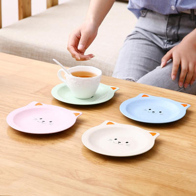 Cat Insulation Coaster & Snack Dish Plates-Mats & Pads-FreakyPet