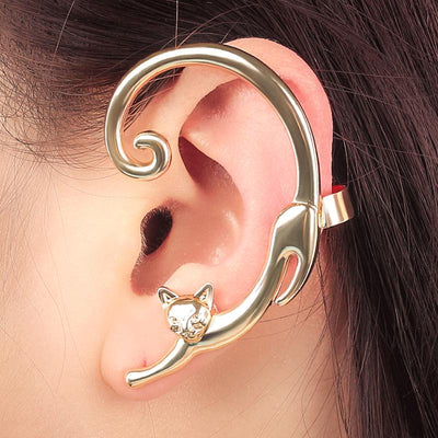 Cute Curly Tail Cat Stud Earring