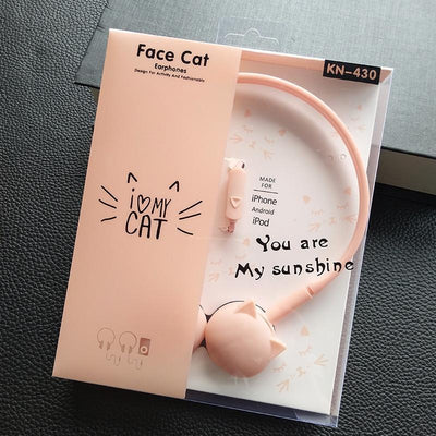 Cute Cat Stereo Earphones-Earphones & Headphones-FreakyPet