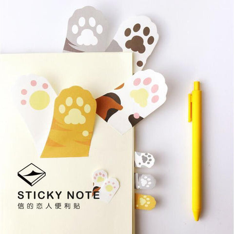 Meow Cat Paw Memo Sticker