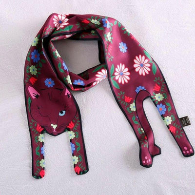 Silky Soft Double Sided Cat Scarf-FreakyPet