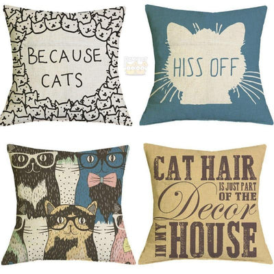 4pcs Bestselling Cool Cat Pillow Cases-FreakyPet