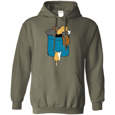 Crazy Cat Crowd Hoodie-Sweatshirts-FreakyPet