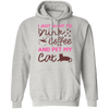 I Just Want To Drink Coffee And Pet My Cat Hoodie-Sweatshirts-FreakyPet