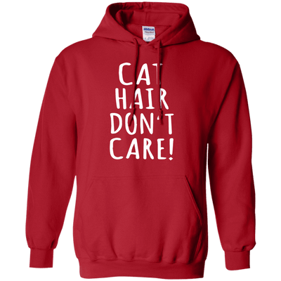 Cat Hair Dont Care Hoodie-Sweatshirts-FreakyPet