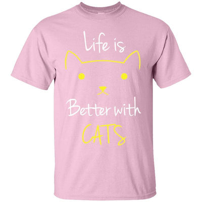 Life Is Better With Cats T-Shirt-FreakyPet