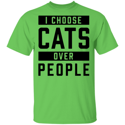 I Choose Cats Over People T-Shirt-T-Shirts-FreakyPet