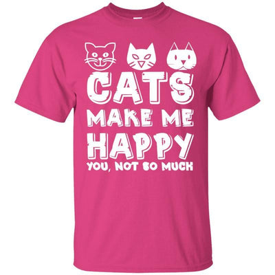 Cats Make Me Happy T-Shirt-T-Shirts-FreakyPet