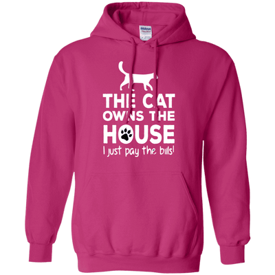 The Cat Owns The House Hoodie