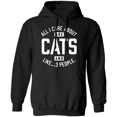 All I Care About Are Cats And Like... 3 People... Hoodie-FreakyPet