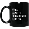 Eat Sleep Cat Rescue Repeat Mug