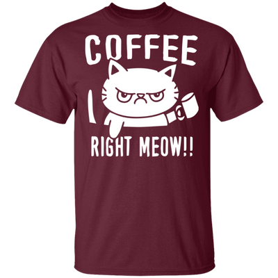 Coffee Right Meow T-Shirt-T-Shirts-FreakyPet