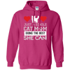 Just A Single Cat Mom Hoodie-FreakyPet