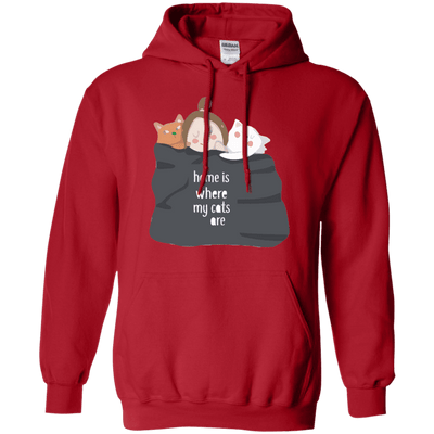 Home Is Where My Cats Are Hoodie