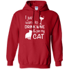 I Just Want To Drink Wine And Pet My Cat Hoodie-FreakyPet
