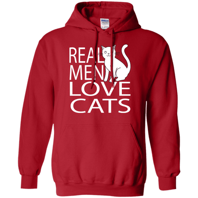 Real Men Love Cats Hoodie-Sweatshirts-FreakyPet