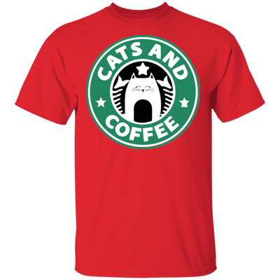 Cats and Coffee T-Shirt-T-Shirts-FreakyPet