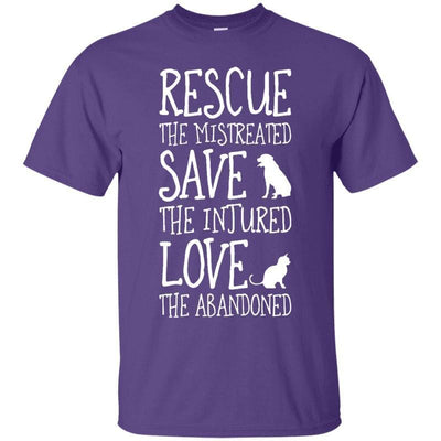 Rescue The Dog And Cat T-Shirt-T-Shirts-FreakyPet
