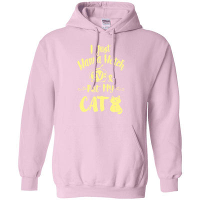 I Wanna Watch Tv & Pet My Cat Hoodie-Sweatshirts-FreakyPet